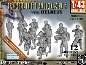 1-43 IDF HELMET PATROL SET 5 in Smooth Fine Detail Plastic