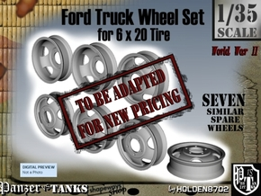 1-35 Ford 6x20 Empty Wheels Set2 in Transparent Acrylic