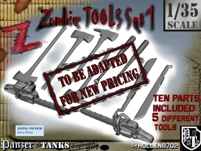 1-35 Zombie Tools Set 001 in Transparent Acrylic