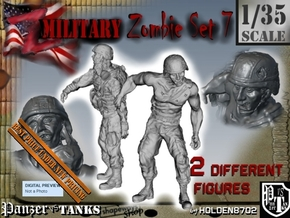 1-35 Military Zombie Set 7 in Smooth Fine Detail Plastic
