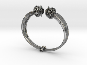 bracelet for Egyptian Fellah Woman in Polished Silver (Interlocking Parts)