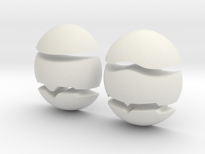 Makoki Stones in White Natural Versatile Plastic