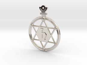 The Saturnus (precious metal earring/pendant) in Rhodium Plated