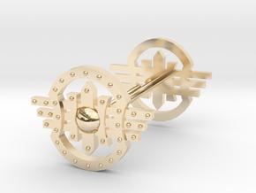 Shields Earring in 14K Yellow Gold