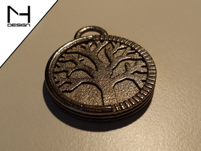 Tree of Life Pendant in Polished Nickel Steel