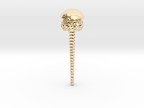 Perfume Necklace Cap in 14k Gold Plated Brass