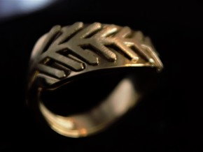 Palm ring duo in 18k Gold Plated Brass: 1.5 / 40.5