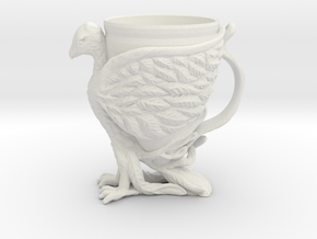 The Phoenix Mug in White Strong & Flexible: Small