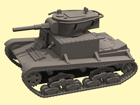 28mm Fictional Wk.6 tank in White Processed Versatile Plastic