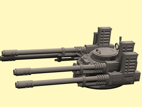 28mm APC Anti-aircraft turret in White Strong & Flexible Polished