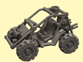 1/48 SciFi buggy - downloadable in White Processed Versatile Plastic