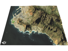 "Table Mountain Map: 8.5""x11"" Portrait in Matte Full Color Sandstone"