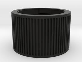 Leica M double cap in Black Natural Versatile Plastic
