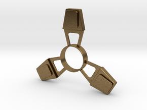 Fidget Spinner (metal) in Natural Bronze