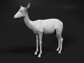 Impala 1:9 Standing Female in White Natural Versatile Plastic