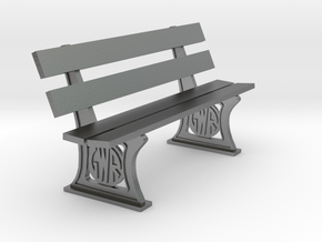 GWR Bench later style 4mm in Natural Silver