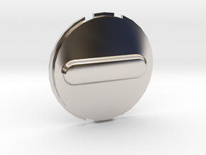 Canary 1 Privacy Cover Lens Cap in Rhodium Plated Brass
