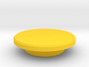 Fidget Spinner Caps in Yellow Processed Versatile Plastic