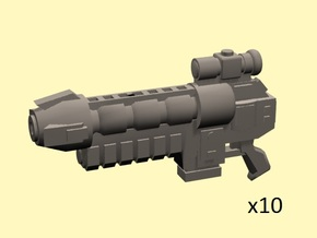 28mm GRP Gravity particle rifles (10) in Frosted Extreme Detail