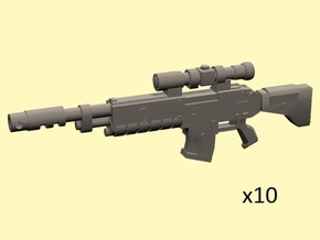 28mm Scoped gyrojet rifles in Frosted Ultra Detail