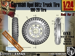 1-24 Opel Blitz Tire 190x20 in Smooth Fine Detail Plastic