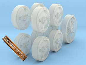 1-24 M5 Stuart Road+Idler Wheels Set1 in Smooth Fine Detail Plastic