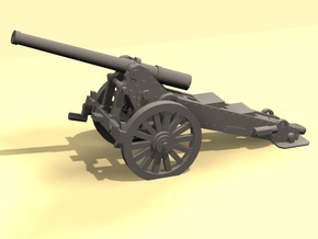 1/160 De Bange cannon 155mm in Smooth Fine Detail Plastic