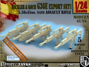 1-24 Heckler Koch Rifle G36E Export Set1 in Smooth Fine Detail Plastic