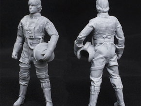 Standing Pilot 1/24 Scale for Studio Scale X-Wing  in White Natural Versatile Plastic