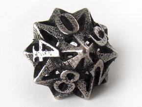 Pinwheel Die10 in Polished Bronzed Silver Steel