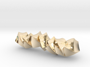 Twisted cubes in 14K Yellow Gold
