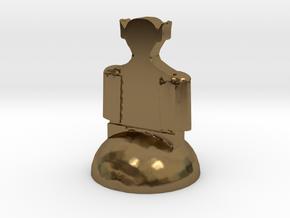 Star Trek Bishop (3) in Polished Bronze