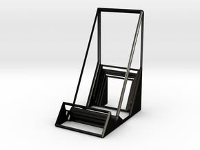 Geometric mobile  phone rack.stl in Matte Black Steel: Medium