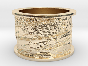 Trompe l'Oeil with Trumpet in 14k Gold Plated Brass: 13 / 69