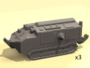 1/220 WW1 Schneider CA-1 tanks in Smooth Fine Detail Plastic