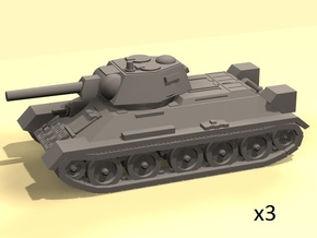 1/220 T-34 tanks (3) in Smooth Fine Detail Plastic