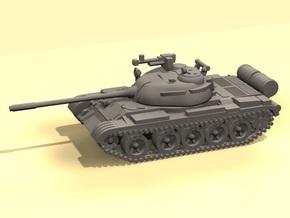 1/144 scale T-55 tank in White Strong & Flexible