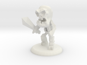 KEVIN THE SKELETON WARRIOR in White Natural Versatile Plastic