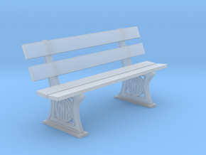 GWR Bench 7mm scale in Smooth Fine Detail Plastic