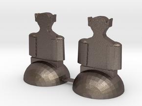 Star Trek Bishops in Polished Bronzed Silver Steel