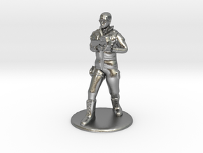 SG Male Soldier Walking 35mm new in Natural Silver