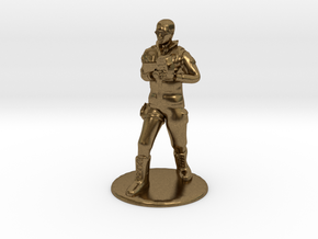 SG Male Soldier Walking 35mm new in Natural Bronze