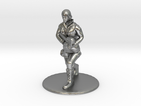 SG Female Soldier Running 35 mm new in Natural Silver