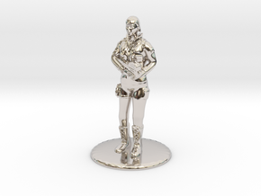 SG Female Standing 35 mm new in Rhodium Plated Brass
