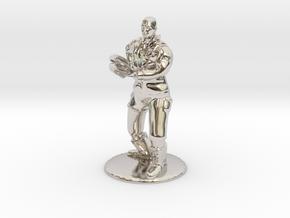 Jaffa Soldier 35 mm new in Rhodium Plated Brass