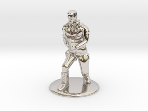 SG Male Soldier Creeping 35 mm new in Rhodium Plated Brass