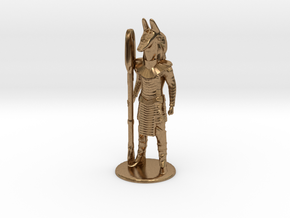 Jackal Guard at Attention 35 mm new in Natural Brass