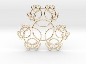 Fractal Blossom Pendant in 14k Gold Plated Brass