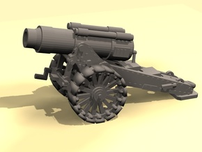 28mm Steampunk Heavy Mortar v.2 in Frosted Ultra Detail