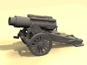 28mm Steampunk Heavy Mortar in Smooth Fine Detail Plastic